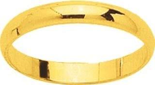 Amira - Alianza de boda (oro amarillo 375/1000 - 9 quilates, 3 mm de ancho)