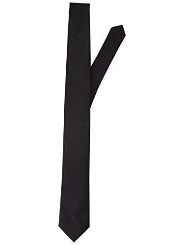 Jack & Jones JACCOLOMBIA Tie Noos Corbata, Negro (Black Detail/Solid), Talla única para...