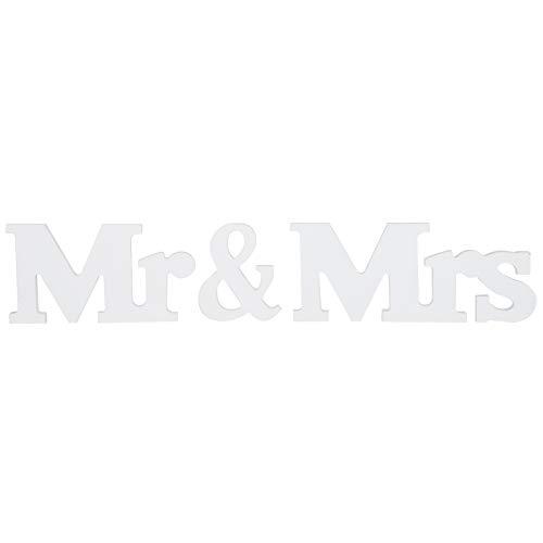 Pssopp Mr & Mrs Wood Decoraciones 1,2 cm de Grosor Mr & Mrs Adornos Romántico Mr & Mrs...