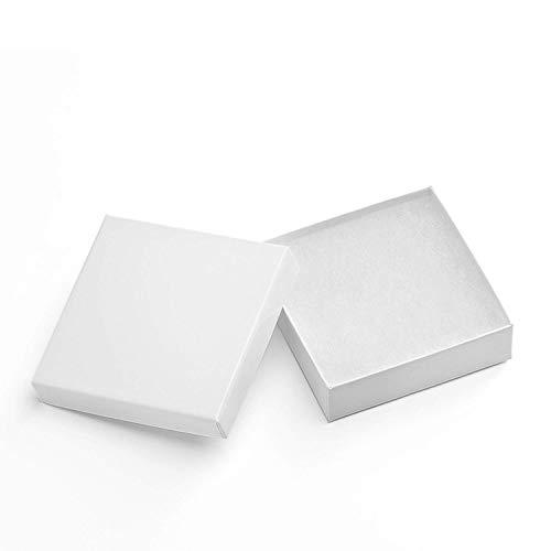 Switory Cajas de regalo de joyería de 20 piezas, 9x9x2,5cm Pequeñas cajas de papel...