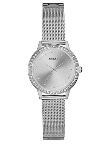 Guess Reloj Análogo clásico para Mujer de Cuarzo con Correa en Acero Inoxidable W0647L6