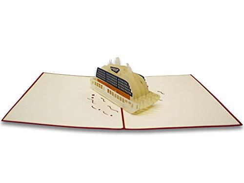 Tarjeta de felicitación con diseño de origami, pasaporte de vacaciones