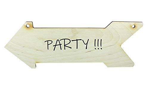 Net4Cliente Flecha de Madera en Forma de Signo Decoración del Partido Flecha Decoración...