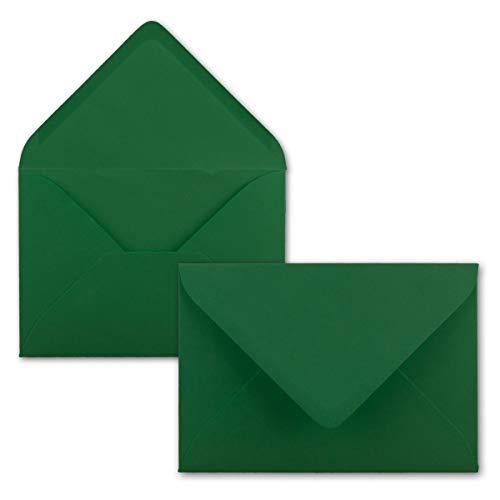 FarbenFroh Sobres de color verde oscuro, 100 unidades, DIN C5, 22,0 x 15,4cm, adhesivo...