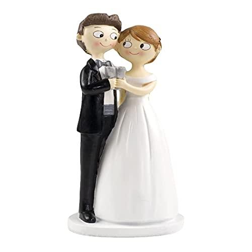 Mopec Y588 - Figura de pastel para boda pareja de novios pop & fun brindis, 21 cm