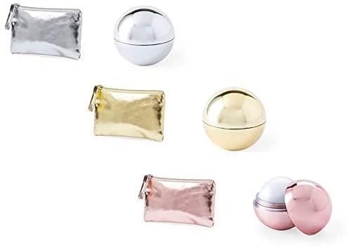 30 Monederos Metalizados + 30 Bálsamos labiales, surtido en colores. Lip gloss boda....