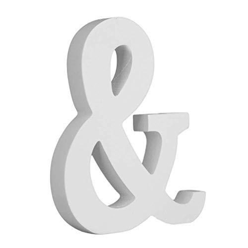 Letras Decorativas Grandes Madera pintada Blanco 15 cm