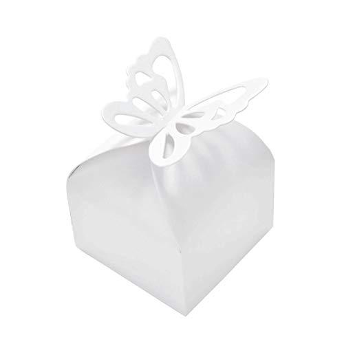 JZK 50 x Recuerdos Cajas Regalo Bombones de Boda Baby Shower cumpleaños graduación...