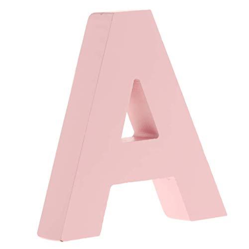 Letras Pintadas en Madera Rosa 10 cm