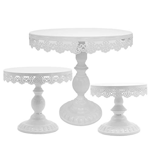 Juego de 3 soportes para tartas de boda de 8/10/30,48 cm, altura ajustable, accesorio para...