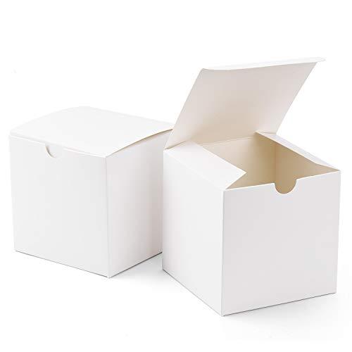 Switory Cajas de regalo 50Pc 10x10x10cm, cajas de regalo de papel Kraft con tapas para...