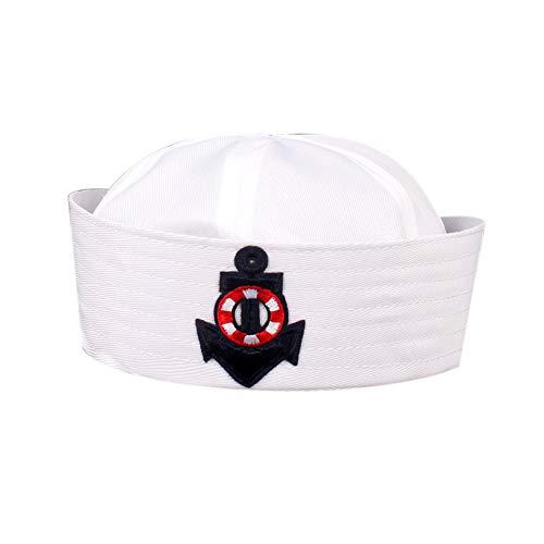Bontand Uniforme Azul Marino Sombrero Casquillo De Marineros Barco De La Nave Capitán...
