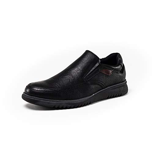 Denver Footwear Zapatos de Trabajo con Cordones para Hombre, Negro, 44 EU