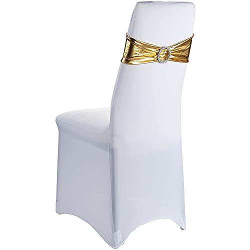 Juego de 20 fundas para sillas de banquetes, satén, licra