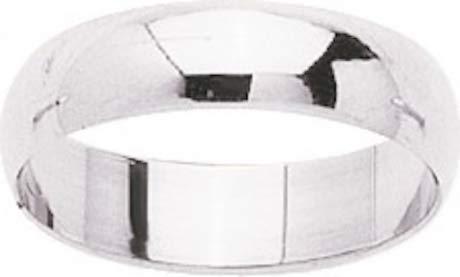 AMIRA - Alianza de boda (oro blanco 375/1000 - 9 quilates, ancho 5 mm)