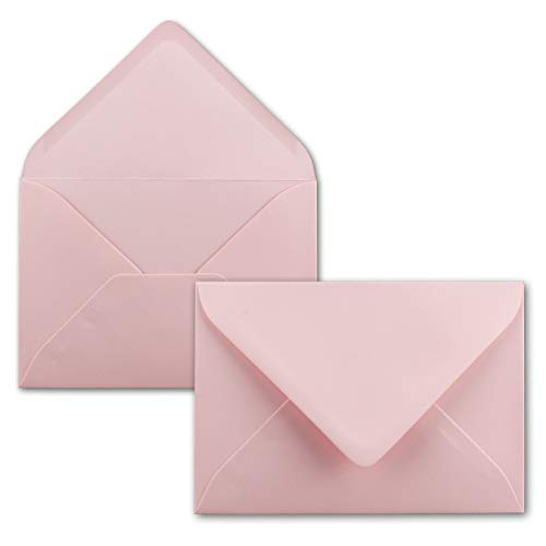 FarbenFroh Sobres de color rosa, 25 unidades, DIN C5, 22,0 x 15,4cm, adhesivo húmedo,...
