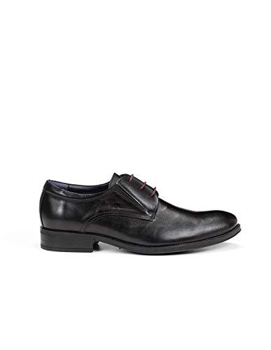 Fluchos   Zapato de Hombre   HERACLES 8410 Memory Negro Zapato de Vestir   Zapato de Piel...