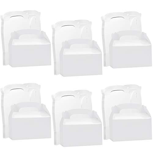 Belle Vous Cajas Kraft Blancas para Fiestas (Pack de 24) 16 x 9,3 x 8,6 cm – Cajas Lisas...