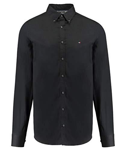 Tommy Hilfiger Core Stretch Slim Poplin Shirt Camisa, Negro (Flag Black 083), XX-Large...
