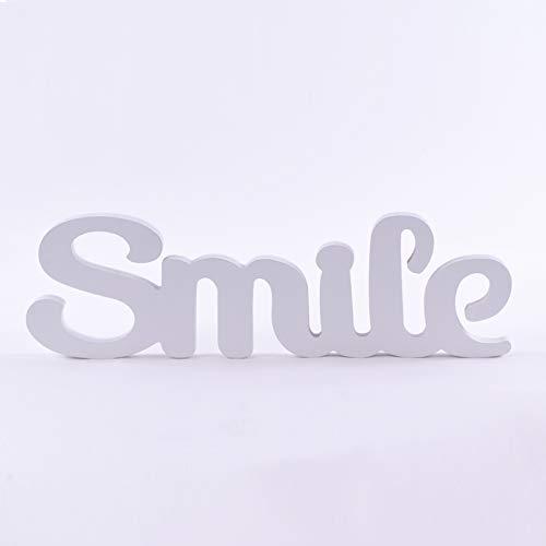 Homevibes Letras De Madera con Frase Smile Ideal para Decoracion Medidas 40x12cm Ideal...