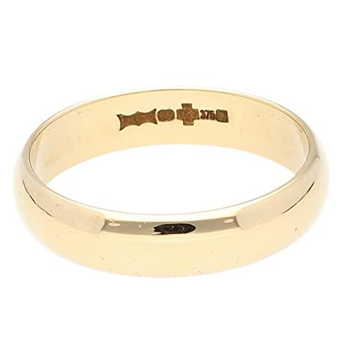 Jollys Jewellers Alianza de boda de oro amarillo de 9 quilates en forma de D para hombre...