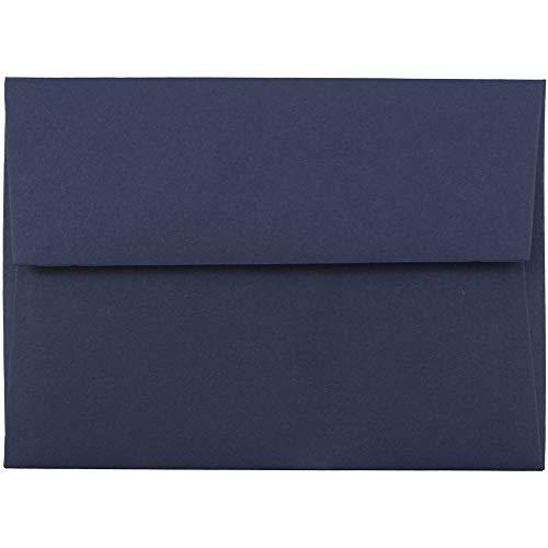 JAM PAPER Pequeños Sobres de Invitación - 92,1 x 130,2 mm - Azul Marino - 100 por...