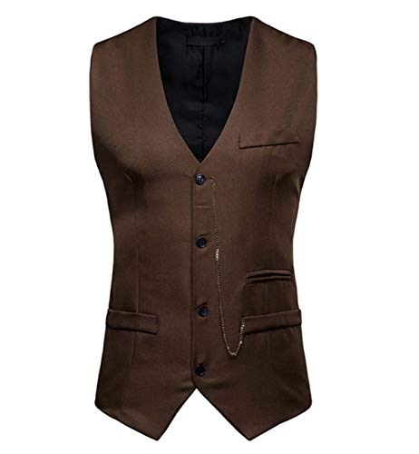 GL SUIT Vestido Flaco Chaleco de los Hombres Diseñado Chaleco clásico Smoking Chaleco...