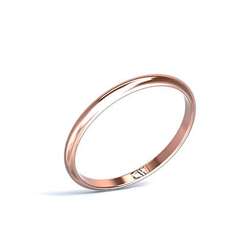 Alianza oro rosa Rhea mujer Cristina Wish 2-1,2 mm, todos los tamaños disponibles (16)