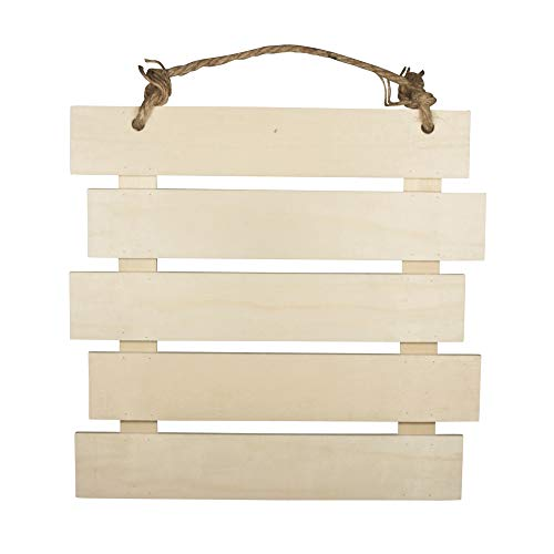 Rayher 62865505 Cartel de madera con listones, 30.5 x 31.6 x 1.5 cm, Cartel decorativo al...