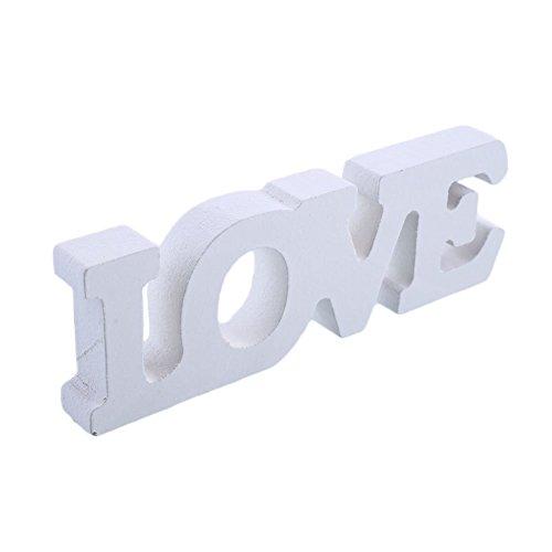 MingXiao Letra de Madera Love Tema de Madera para la decoración del hogar Love