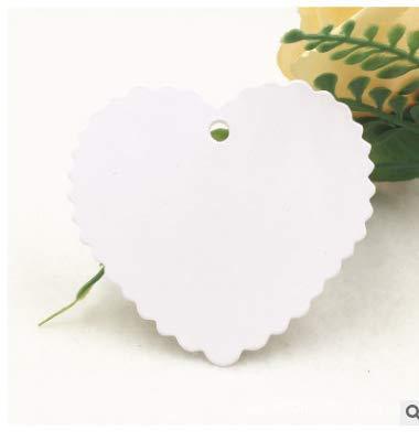 Etiquetas de Carton,200 Pack Etiquetas de Papel Kraft Forma de Corazón Etiquetas de...