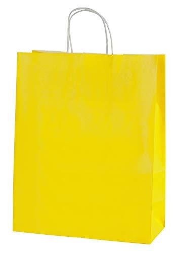 Thepaperbagstore 20 Bolsas De Papel De Colores, Reciclables Y Reutilizables, con Asas...