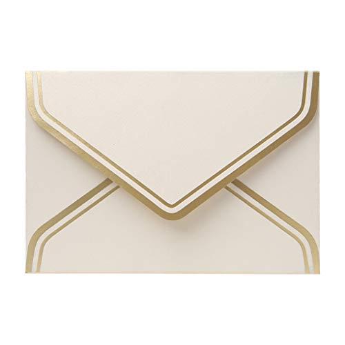 Lazder 10 sobres de papel retro vintage en blanco para tarjetas de felicitación de boda,...