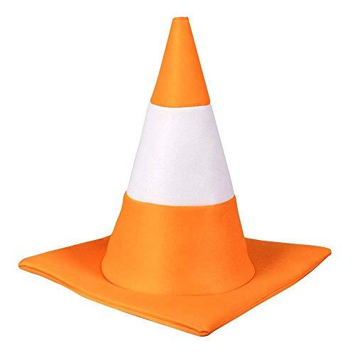 Boland- Hat Traffic Cone 59 33007-Sombrero de Conos de tráfico, para Fiestas temáticas,...