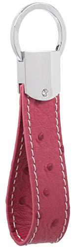 Llavero de cuero DPOB de piel italiana, diseño simple, hecho de piel de alta calidad...