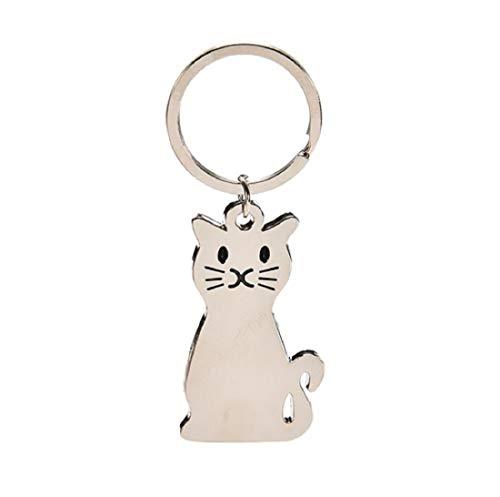 Llavero de gato plateado   Regalo   Mujer   Mascota   Gatito