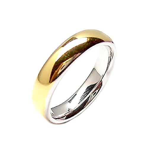 Gioielli Aurum - Alianzas de oro de 18 quilates bicolor amarillo y blanco grabado...
