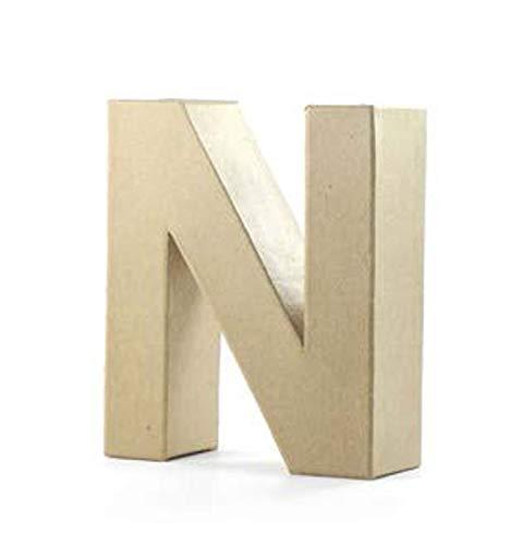 Pracht Creatives Hobby Tipo N, Letra de cartón Aprox. Tamaño de 10 x 3 cm, Ideal para...