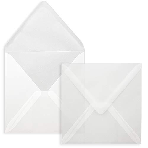 FarbenFroh® - Sobres cuadrados sin ventana, 25 unidades, 15,5 x 15,5 cm, adhesivo...