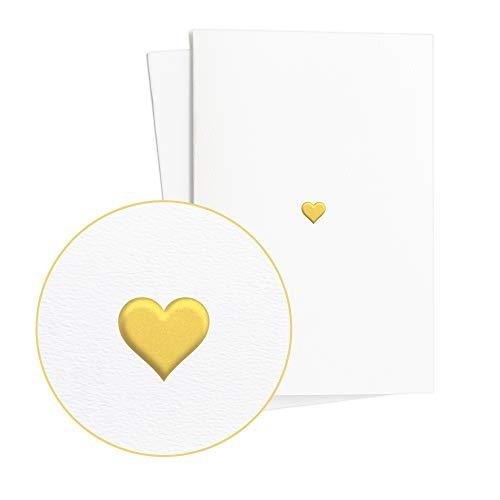 Juego de 2 Tarjetas de boda, anillos nobles en relieve de lámina dorada, tarjeta de...