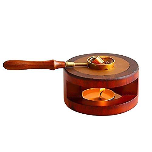 Kits de Calentador de Sello de lacre - Kit de Calentador de Cera con Mango de Madera y...