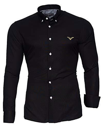 Kayhan Hombre Camisa, Oxford Black 5XL