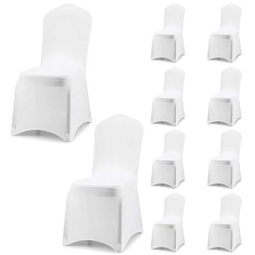 HJZ Fundas para sillas Pack de 10 Fundas sillas Comedor,Lavable Extraíble Funda,Muy...