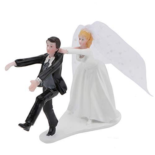 ABOOFAN Decoración para tarta nupcial, figuras del novio de la novia, figuras divertidas...