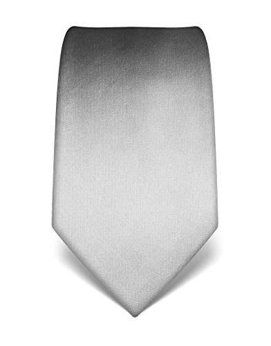 Vincenzo Boretti Corbata de hombre en seda pura, uni gris claro