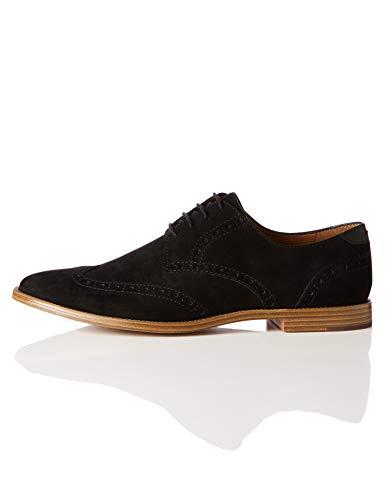 find. Zapatos Oxford para Hombre, Negro (Black), 40 EU