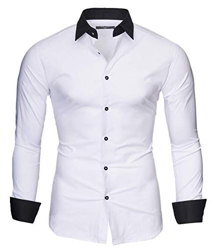 Kayhan Hombre Camisa Mailand, White (L)