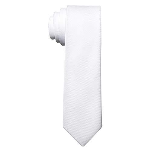 MASADA Corbata para Hombre elaborada a mano y con gran esmero 6 cm de ancho - Blanco