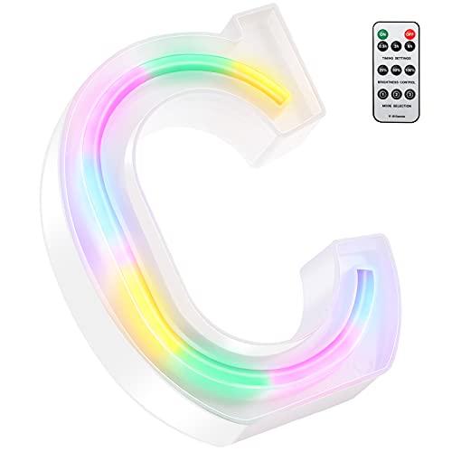 Letras Luces Boda Multicolor 13 cm