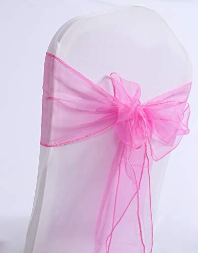 Namvo Organza Chair Bows (Pink)